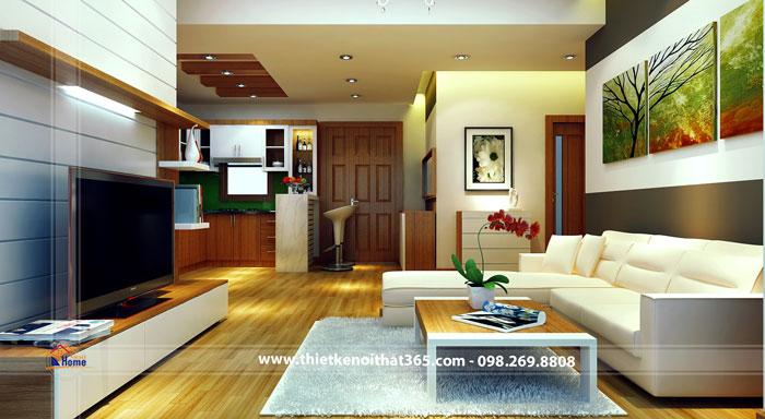 Thiết kế nội thất chung cư nhà chị Hạnh