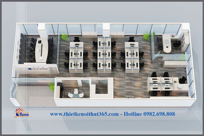 Thiết kế và thi công nội thất Văn phòng Daijin.