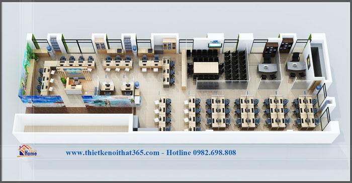 Thiết kế và thi công nội thất văn phòng Vietrantuor