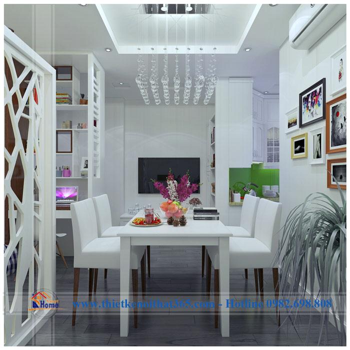 Thiết kế và thi công nội thất chung cư – chị Hương Kim Văn Kim Lũ.