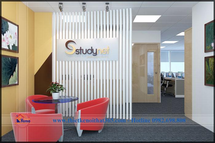 Thiết kế và thi công nội thất văn phòng Studynet