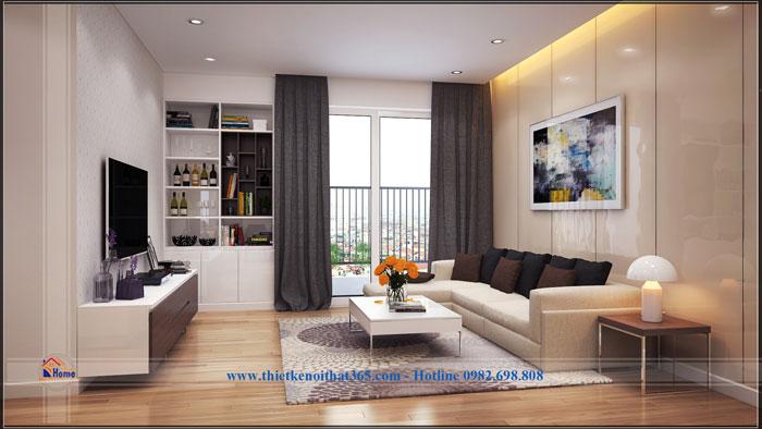 Thiết kế và thi công nội thất chung cư Golden Palace