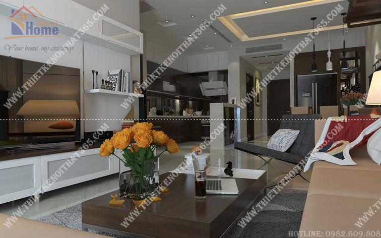Thiết kế nội thất chung cư Thăng Long Number 01 – chị Khánh