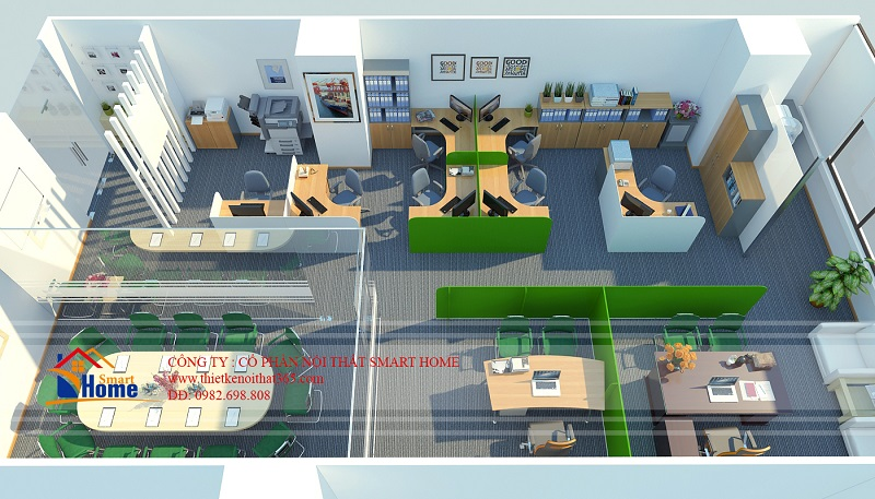 Thiết kế văn phòng công ty TNHH Hesung A.