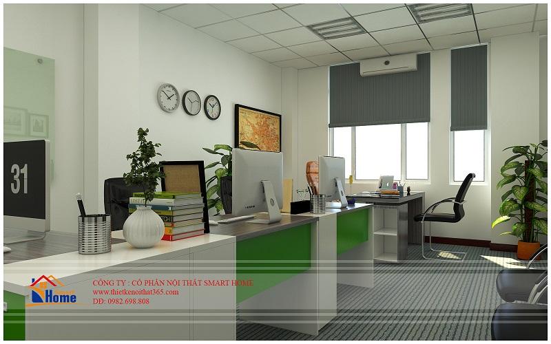 Thiết kế nội thất văn phòng công ty con đường xanh